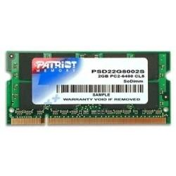 Модуль памяти PATRIOT 2GB PC6400 DDR2 SO-DIMM PSD22G8002S