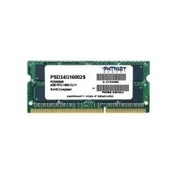 Модуль памяти PATRIOT 4GB PC12800 DDR3 SO-DIMM PSD34G16002S