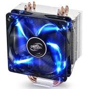 Устройство охлаждения(кулер) Deepcool GAMMAXX 400 BLUE BASIC Soc-FM2+/AM2+/AM3+/AM4/1150/1151/1155/ 4-pin 18-30dB Al+Cu 150W 640gr LED Ret