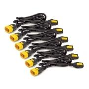 Power Cord Kit (6 ps), Locking, IEC 320 C13 to IEC 320 C14, 10A, 208/230V, 1,2 m (repl. AP8704S)